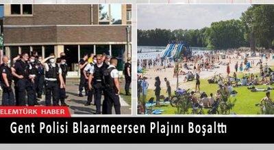 Gent polisi gençler arasında çıkan kavga nedeniyle Blaarmeersen plajını boşalttı.