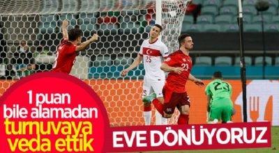 Türkiye puan alamadan EURO 2020'ye veda etti