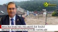 Belçika'daki sel felaketi ile ilgili Brüksel Büyükelçiliği duyuru yayınladı