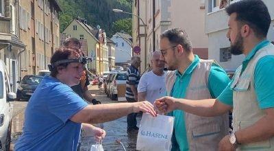 Hasene Derneği; Belçika, Almanya ve Avusturya'da selden etkilenen afet bölgelerine yardıma devam ediyor.