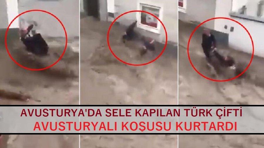 Avusturya'da sele kapılan Türk çiftin hayatını  komşusu kurtardı