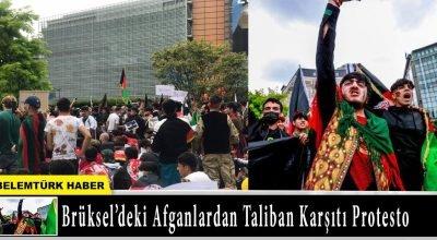 Belçika'nın başkenti Brüksel'de Afganlardan Taliban karşıtı protesto eylemi!