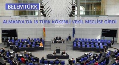 Almanya'da 18 Türk kökenli vekil meclise girdi.