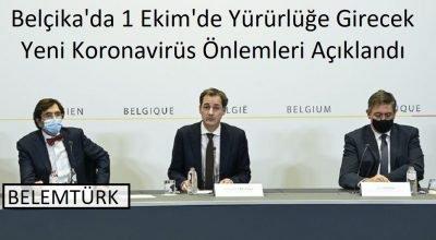 Belçika Danışma Kurulu 1 Ekim'de yürürlüğe girecek önlemleri gevşetti