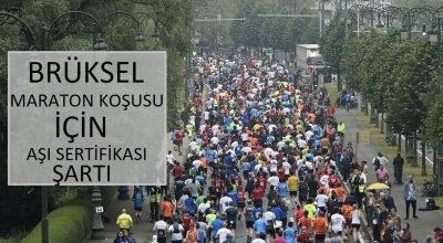 Geleneksel 20 km'lik Brüksel maraton koşusu için aşı sertifikası şartı