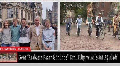 """Gent şehri """"Arabasız Gün"""" etkinliğinde Kral Filip ve ailesine ev sahipliği yaptı."""