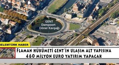 Flaman Hükümeti Gent'in ulaşım altyapısına 460 milyon euro yatırım yapacak.