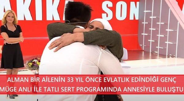 Alman bir ailenin 3 yaşındayken evlatlık aldığı genç 33 yıl sonra Türkiye'deki gerçek ailesine kavuştu!