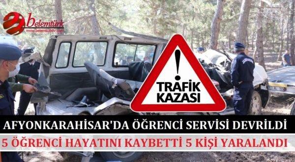 Afyonkarahisar'da 5 can alan kazayı yaralı öğrenci haber verdi.