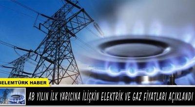 AB'de yılın ilk yarısına ilişkin elektrik ve gaz fiyatları açıklandı