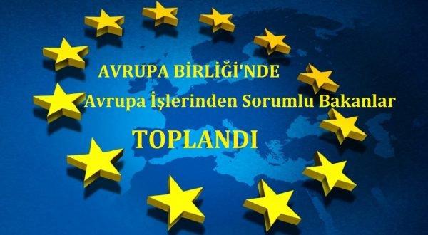 AB'de Avrupa işlerinden sorumlu bakanlar toplandı