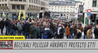 Belçikalı polisler hükümeti protesto etti