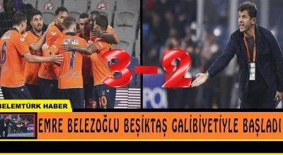 Emre Belözoğlu Beşiktaş galibiyetiyle başladı