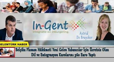 Belçika Flaman hükümeti ücretsiz olan dil ve entegrasyon kurslarını 360 euro  yaptı.