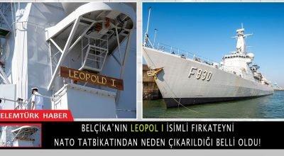 Belçika'nın Leopold I  fırkateyni NATO tatbikatından çıkarıldı.
